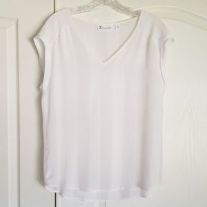 New York and company shear white top